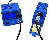 Komerci ZD-931ESD Regelbare digitale Lötstation 24V Lötkolben 48W mit Lötspitze, blau beleuchtetes Display, 150-450°C