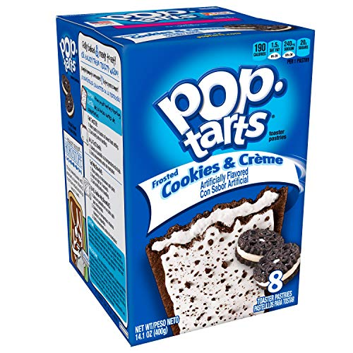 Kellogg's Frosted Pop Tarts with Sprinkles, Cookies and Cream, 8 ct