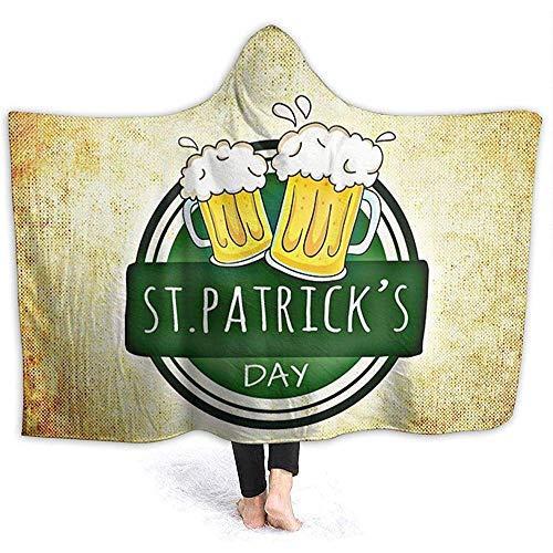Duanrest St. Patrick & Acirc; & Euro; s Day Felpa con Cappuccio Coperta Peluche Corallo Peluche...