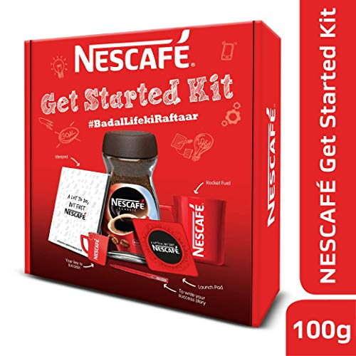 Nescafe Classic Get Started Coffee Kit, 100g