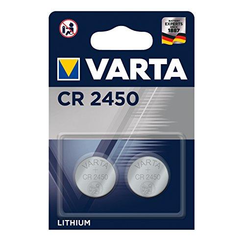 VARTA 6450101402 CR2450 Lithium 3V Batteria Piatta Specialistica, Non Ricaricabile, Monouso, Litio,...