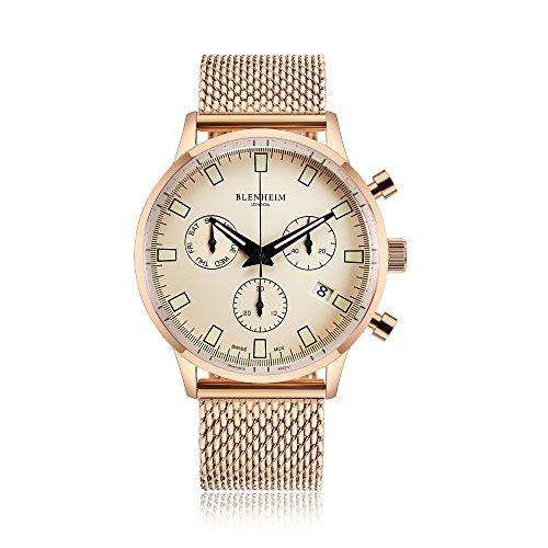 Blenheim London Chronomaster ROSS Gold Pilot orologio
