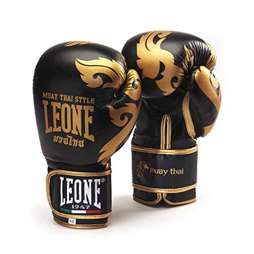 Leone 1947 Muay Thai Guantoni, Nero, 10 Oz