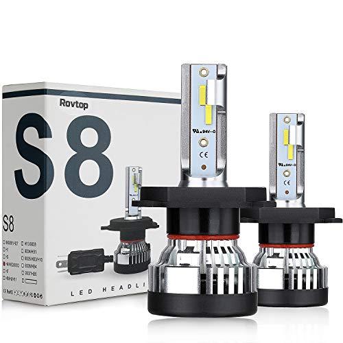 Rovtop Lampadine H4 LED 10000LM, Perline di lampada Csp, 9V-36V, 6000K Bianco, Kit Lampada...