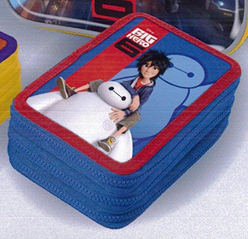 Astuccio 3 Zip Azzurro Big Hero