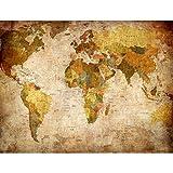 Tapisserie Photo Carte du monde 308 x 220 cm Laine papier peint Salon Chambre Bureau Couloir décoration Peinture murale décor mural moderne - 100% FABRIQUÉ EN ALLEMAGNE - 9015010b