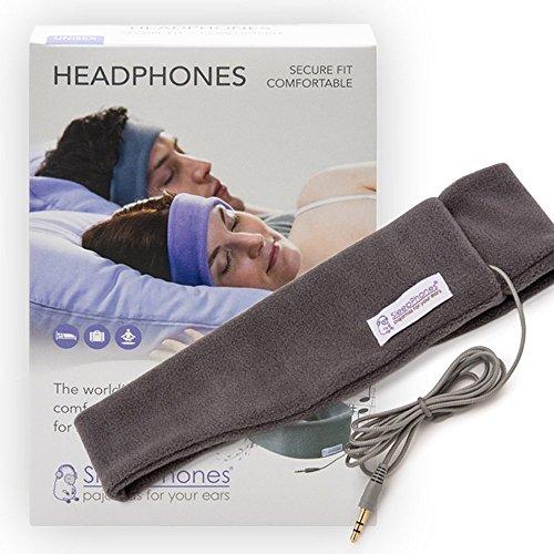 AcousticSheep souple, FIN sleepp Smartphones Classic Breeze Polyester-Bandeau avec écouteurs intégrés pour Smartphone et Tablette 21