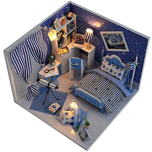 Case Delle Bambole Fai Da Te Casa Sogno Cielo Assemblaggio Manuale Modello Di Edificio Creativo San Valentino Regalo Di Compleanno Giocattoli Per I