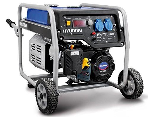 Hyundai hy4000Grupo electrógeno a gasolina generador de corriente 3,0kW 230V carrellato