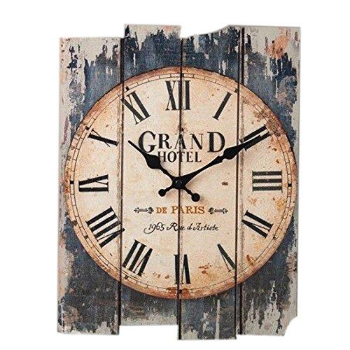 Wanduhr Vintage, iTECHOR 12 Zoll (30cm) Lautlos Vintage Wanduhr Uhr Uhren Wall Clock ohne Tickgeräusche
