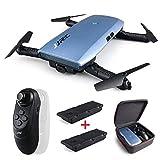 Drone con fotocamera con 2 pezzi di batteria, JJRC H47 ELFIE WiFi FPV Selfie Drone con videocamera...