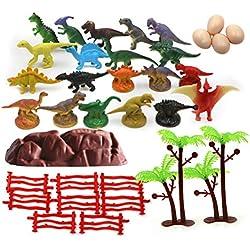 Toyvian Juguetes de simulación de Dinosaurio moldes Mini Modelo Animal Juguetes educativos para niños 35pcs
