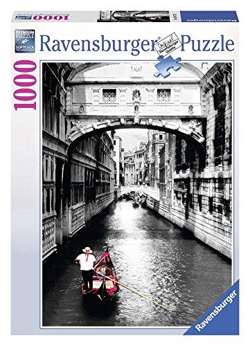 Ravensburger Italy Bianco e Nero Rav Pzl 1000 Pz Venezia con Gondola 19472, Multicolore, 878306