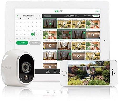 51dqNdKQ88L [Bon Arlo !  Arlo - Caméra additionnelle HD 100% sans Fil, Vision Nocturne, Etanche Intérieure/Extérieure - Compatible avec syst...
