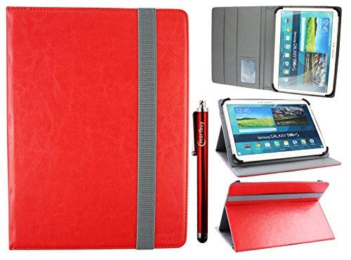 Emartbuy Universal 9-10 Pollici Rosso Angolo Multi Portafoglio Custodia Case Cover per Carte di...