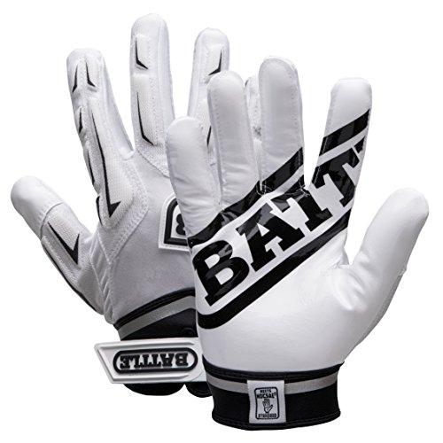 BATTLE Adulto Ibrido Guanti, Unisex, 9371YXL, White, XL