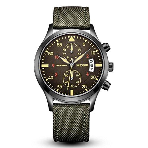 Megir Herren Military Chronograph Sport Kalenderuhr