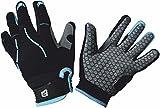 Polaris Tracker Kids Cycling Gloves - Cyan/Grey, XL