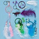 Dreamcatcher Keyring & Bag Dangler Kits for Children to Make & Use or Offer as a Small Gift (Pack of 4)