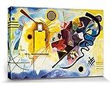1art1 Vassili Kandinsky - Amarillo Rojo Azul, 1925 Cuadro, Lienzo Montado sobre Bastidor (120 x 80cm)