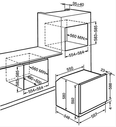 Smeg SF250X Forno elettrico 72L A-10% Acciaio inossidabile forno