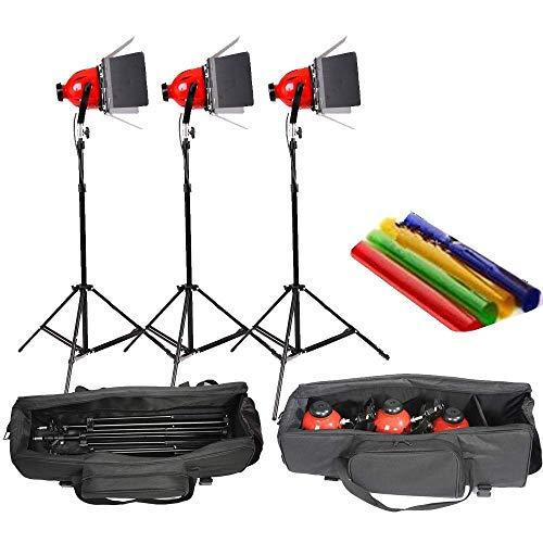 HWAMART dimmer integrato in Pro Photo video studio continuo capo rosso chiaro 800w...