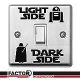 Star Wars Luce Scura Interruttore Laterale Adesivo In Vinile Decalcomania Camera Bambini Luce Interruttore Muro #1