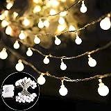 Lichterkette batterie B-right 40 LED Globe Lichterkette glühbirne, batteriebetrieben, warmweiß Innen und Außen Lichterkette Weihnachtsbeleuchtung für kinderzimmer Weihnachten Hochzeit Weihnachtsbaum