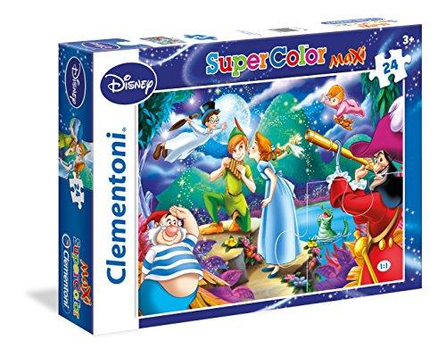 Clementoni - 24467 - Supercolor Puzzle - Peter Pan - 24 Maxi Pezzi - Disney
