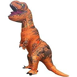 Snuter Disfraz de Dinosaurio Ropa Tyrannosaurus Rex Traje Inflable Vestido Adultos Siendo 1.6-1.9M