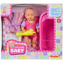 Simba 105033218 New Babyborn - Muñeco en Miniatura, 12 cm