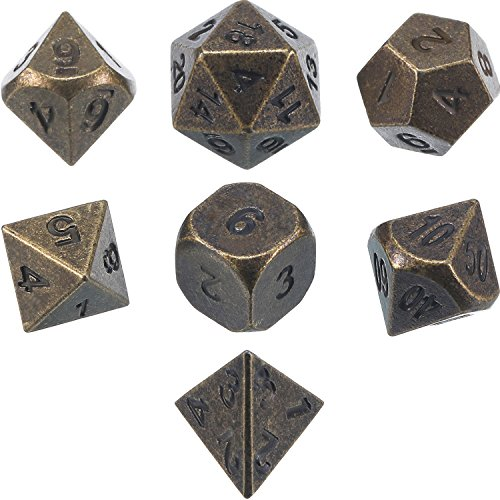 Frienda-Zinc-Alloy-Metal-Polyhedral-7-Die-Dice-Set-for-Dungeons-and-Dragons-RPG-Dice-Gaming-DD-Math-Teaching-d20-d12-2-Pieces-d10-00-90-and-0-9-d8-d6-and-d4