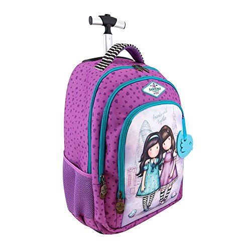 Gorjuss Cityscape Friends Walk Together Trolley Backpack