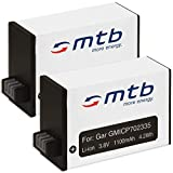 2X Baterías Compatible con Garmin Virb 360 Action CAM [1100 mAh / 3.8V / Li-Ion]