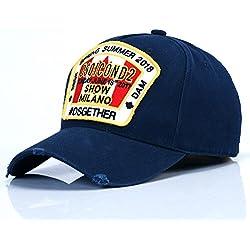GKRY Baseball Cap,Snapback,Trucker Cap,Mütze,Golf Sport Outdoor Kappe Männer und Damen Baseball cap Europäischen und Amerikanischen Freizeitaktivitäten, Blau