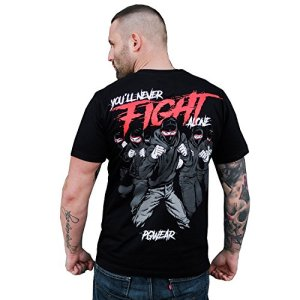 PG-Wear-T-Shirt-Never-Fight-Alone-schwarz-S-XXXL