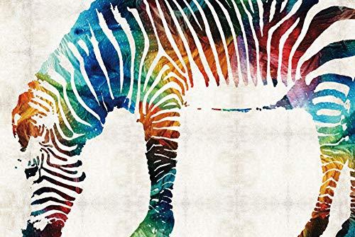 Alesxi Color Zebra Puzzle Jigsaw Puzzle per Adulti Giocattoli in Legno 1000 Pezzi Puzzle Giochi...