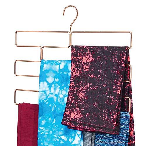 mDesign Compatto appendino per sciarpe, leggings e teli - Organizer con 8 comodi scomparti da...