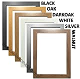 MODERN STYLE SOLID WOODEN EFFECT PICTURE FRAMES PHOTO FRAMES POSTER FRAMES READY TO HANG OR TO STAND (A4 (CERTIFICATE SIZE), OAK)