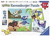 Ravensburger- Puzzle 3 x 49 Piezas, Pokémon (8019)