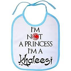 Babero Game Of Thrones Juego de Tronos I Am Not A Princess I Am A Khaleesi - Blanco