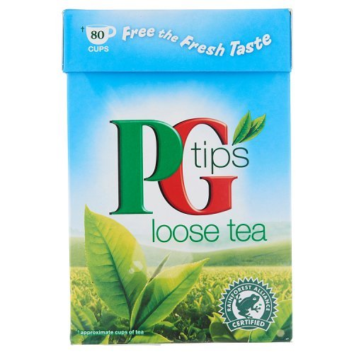 PG Tips tea (rainforest alliance) (black tea) (250g) (brews in 1-3 minutes)