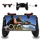 Mobile Game Controller, Sensitive Schießen und Ziel Schlüssel L1R1 und Gamepad für Schießspielhilfe, Mobile Gaming Joysticks für Smartphone (1 Paar + 1 Gamepad)