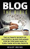 BLOG: THE BIBLE: The ultimate secrets of successful blogs explained step by step, and how to turn them into big profits (Wordpress blogging, Blogging for ... (Digital Marketing Book 3) (English Edition)