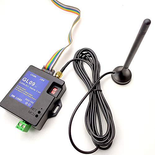 Festnight GL09 Inteligente de bajo consumo Compatible Ocho entradas de alarma Ahorro de energía Trabajando DC5V Sistema de alarma de alerta por SMS Módulo portátil en casa apto para GA09