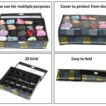 Yellow WeavesTM Undergarments Organizer/Foldable Storage Box with Lid for Drawers, Color - Multi 16