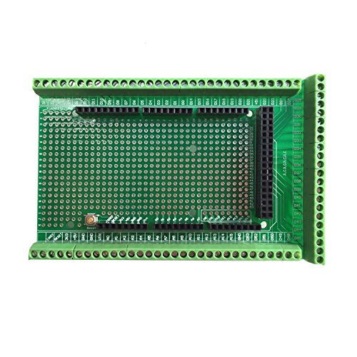WINGONEER Prototype Screw / Terminal Block Shield Board Kit For ArduinoMEGA-2560 R3The Kit include Prototype PCB, Terminal Blocks, Female Header Sockets.Unassembled, variety mount methods, you can make flexible use.PCB:  FR-4 fiber glass PCB,...