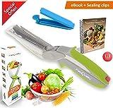 Angebot FabQuality Clever Cutter Messer 2-in-1-Cutter Messer Küche Werkzeug Slicer Dicer Gemüse Chopper Ersatzmesser plus Bonus - Messer Nahrungsmittelzerhacker Gemüseschneider