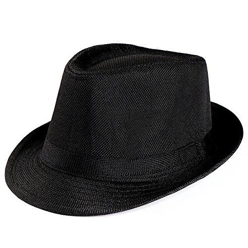Darringls_gorras,Casquillo Casual de Panamá Hombres Sombrero para Deportes Sombrero de Sol de Borde Redondo Paja al Aire Libre Acampar Playa Primavera Verano