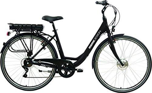 Momo Design Florence Bicicletta Elettrica City Bike, 26'', Velocità 25km/h, Autonomia 70km, Unisex...